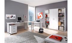 Büro Set OFFICE LINE BIZ Schreibtisch Regal Container weiß