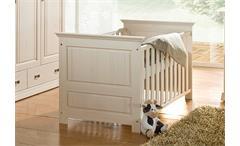 Babybett RONJA Bett Babyzimmermöbel in Kiefer massiv weiß