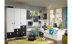Jugendzimmer IV SKATE in alpinweiß und graumetallic