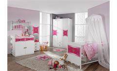 Babyzimmer KATE Kinderzimmer in Weiß und Rosa 3-teilig