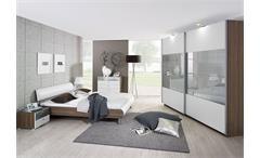 CALUA Schlafzimmerset II Weiß/Esche/Glas
