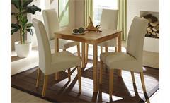 Esstisch PAULA Tisch in Kernbuche massiv lackiert 75x75 cm