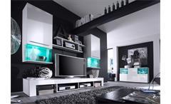 Sideboard Punch Kommode Anrichte Schrank für Wohnzimmer in weiß Glanz