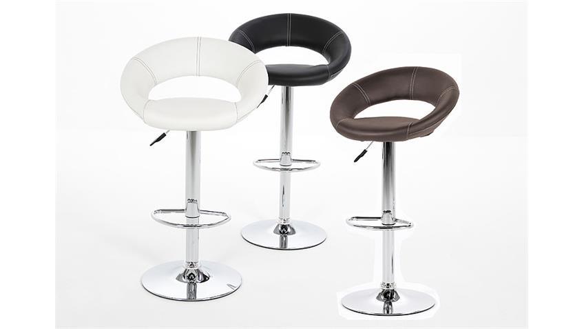 Stuhl PLUMP Esszimmerstuhl in schwarz Trompetenfuß chrom