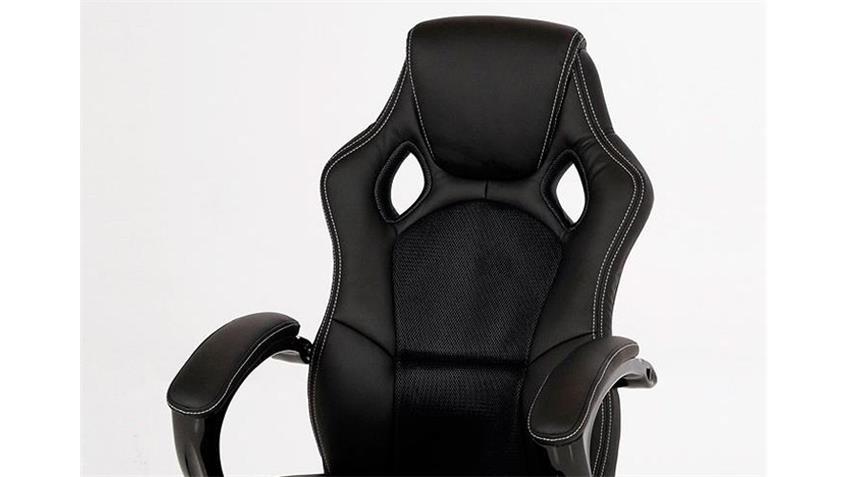 Bürostuhl SPEEDY Schreibtischstuhl Chefsessel in schwarz