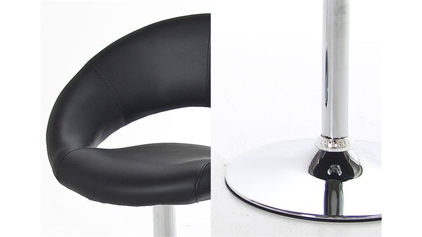 Stuhl PUMP 4er Set Schwarz mit Trompetenfuß