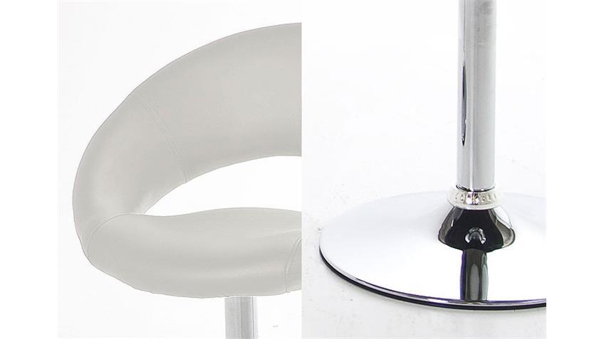Stuhl PLUMP 4er Set Weiß mit Trompetenfuß