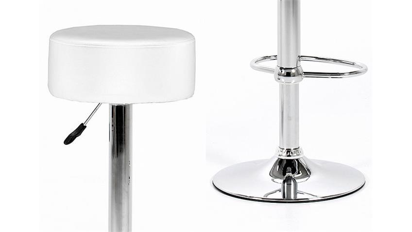 Barstuhl DIGGY Barhocker Trompetenstuhl in weiß und Chrom