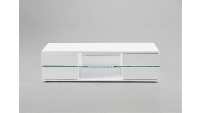 TV-Board BLANC Weiß Hochglanz Lack inkl. LED