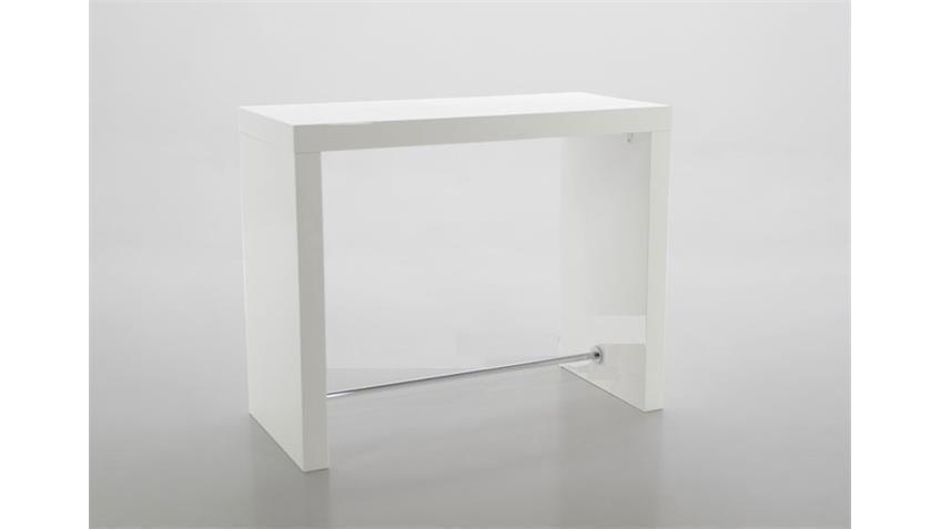Bartisch BLOCK Weiß Hochglanz lackiert 130x60 cm
