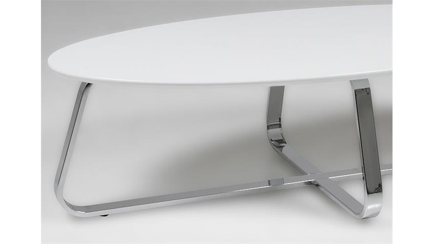 Couchtisch KONZIT Weiß Matt lackiert 120x60 cm