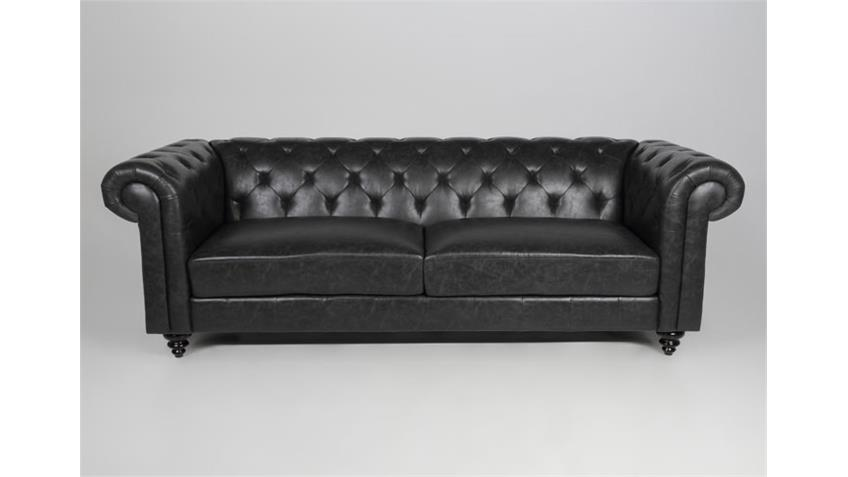 2er sofa charlietown polsterm bel antik schwarz 160 cm. Black Bedroom Furniture Sets. Home Design Ideas