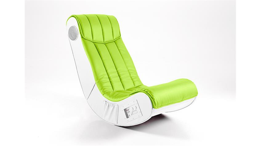 Soundsessel Gaming Chair SOUNDZ lime weiß Playstation Xbox Wii