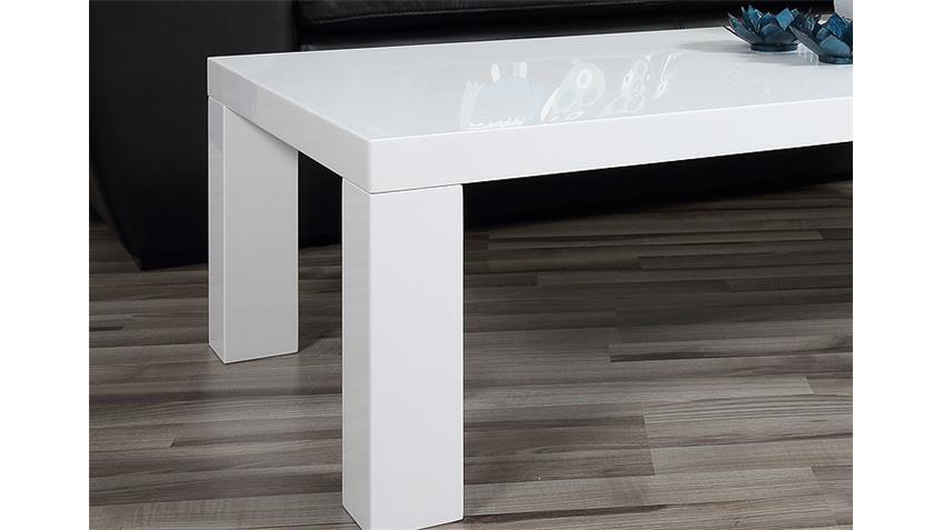 Couchtisch SPICE Weiß Hochglanz Lack 120x60 cm