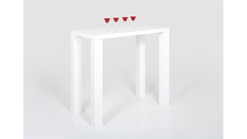 Bartisch SPICE Weiß Hochglanz Lack 120x60 cm