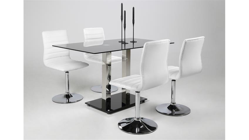 Stuhl PIPER 2er Set in weiß mit Trompetenfuß