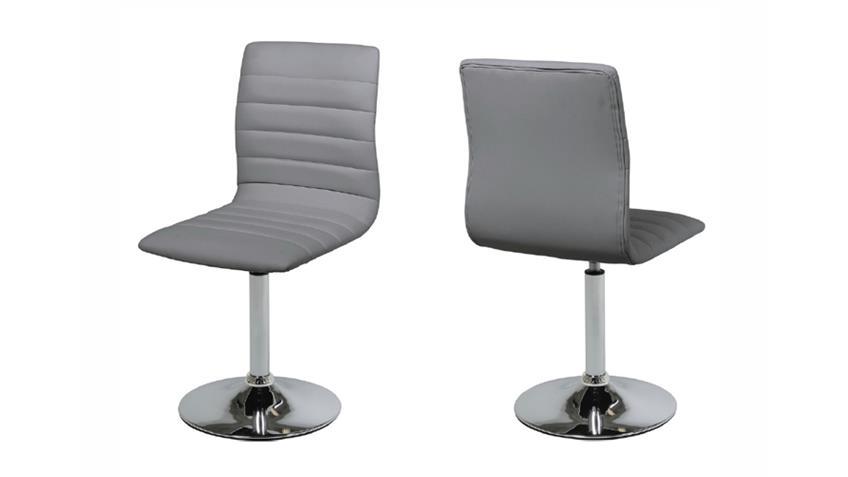 Stuhl PIPER 2er Set in grau mit Trompetenfuß
