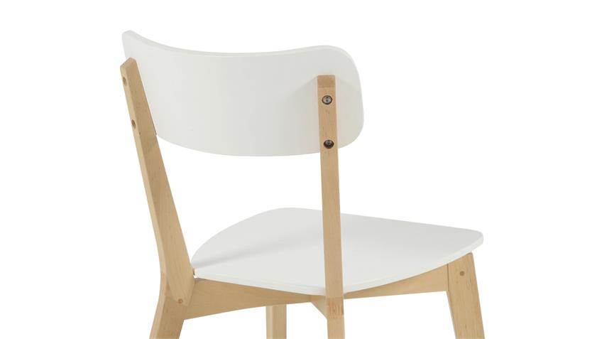 Stuhl RAVEN 2er Set weiß lackiert Gestell Birke teilmassiv