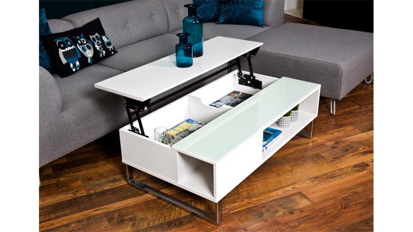 couchtisch azalea hochglanz wei lackiert glas 110 cm. Black Bedroom Furniture Sets. Home Design Ideas