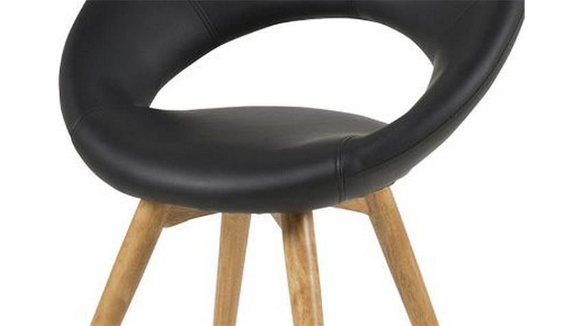 Stuhl PLUMP 2er Set Schwarz Gestell Massivholz