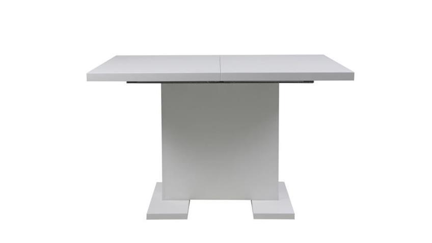 Esstisch GUST hochglanz weiß lackiert ausziehbar 120-160cm