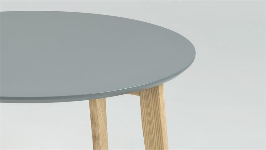 Couchtisch MOLINA Tischplatte grau lackiert Esche teilmassiv
