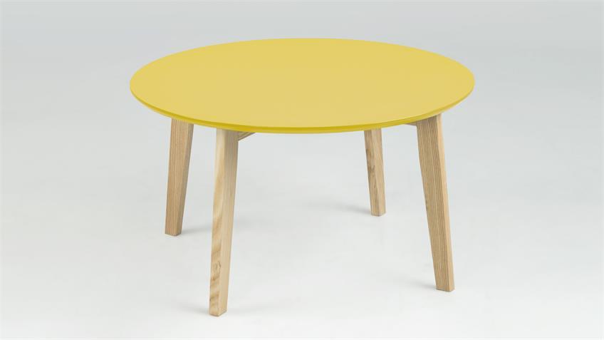 Couchtisch MOLINA Tischplatte curry lackiert Esche massiv
