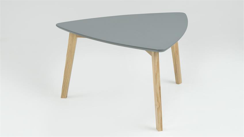 Couchtisch VITUS Tischplatte grau lackiert Esche teilmassiv