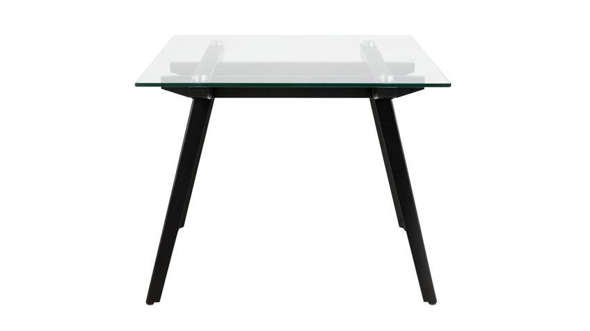 Esstisch MONTI Tisch Glas Gestell schwarzes Metall 180x90 cm