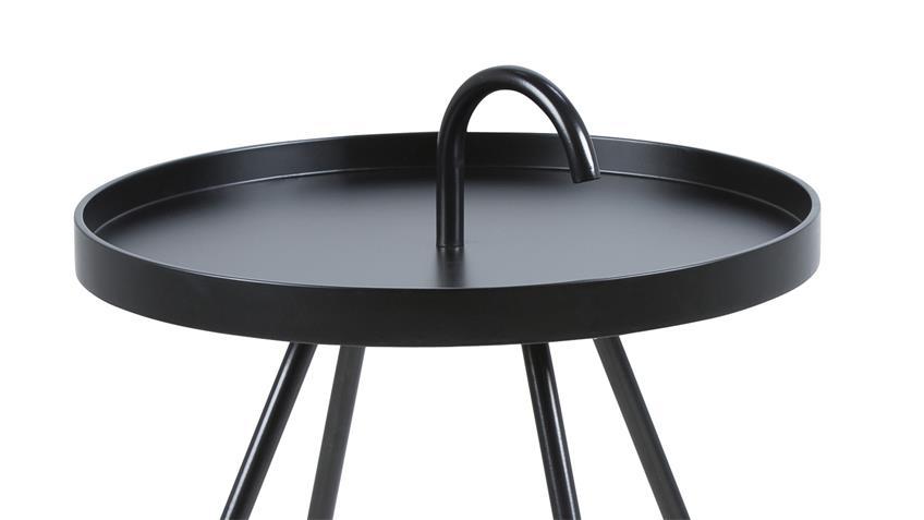 Beistelltisch MICO Couchtisch rund schwarz lackiert Ø 51 cm