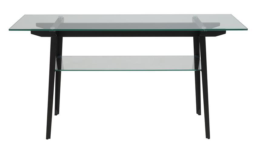 Konsolentisch MONTI Glasplatte und Metallgestell schwarz