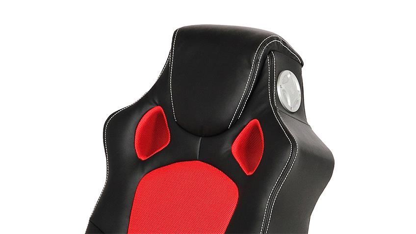 Gaming Chair SPEEDY Playstation XBOX Spielsessel schwarz rot