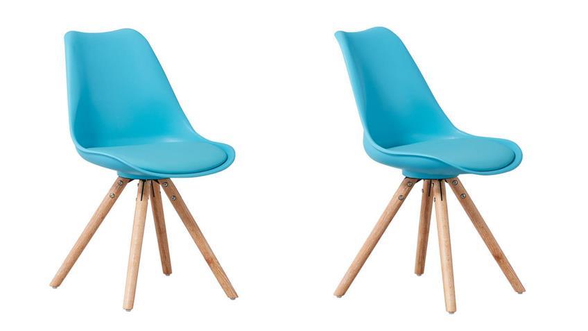 stuhl clara schalenstuhl 2er set t rkis skandinavisch. Black Bedroom Furniture Sets. Home Design Ideas