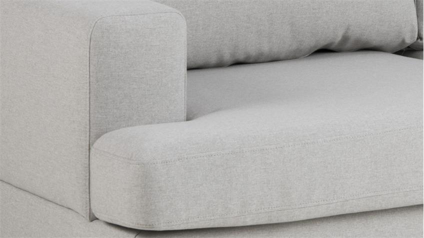 Sofa NORWICH 2-Sitzer Hellgrau Skandinavischer Stil