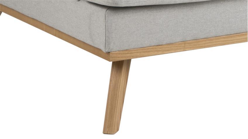 Sofa NORWICH 3-Sitzer Hellgrau Skandinavischer Stil Couch