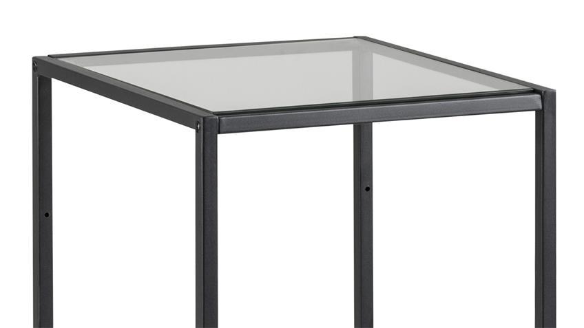 Regal SEAFORD schwarz 2 Glasböden Puristisches Design
