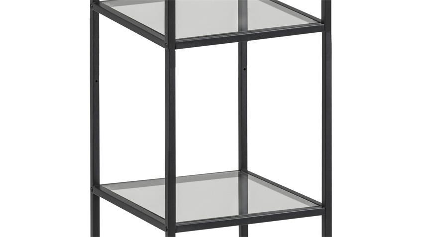 Regal SEAFORD schwarz 3 Glasböden Puristisches Design