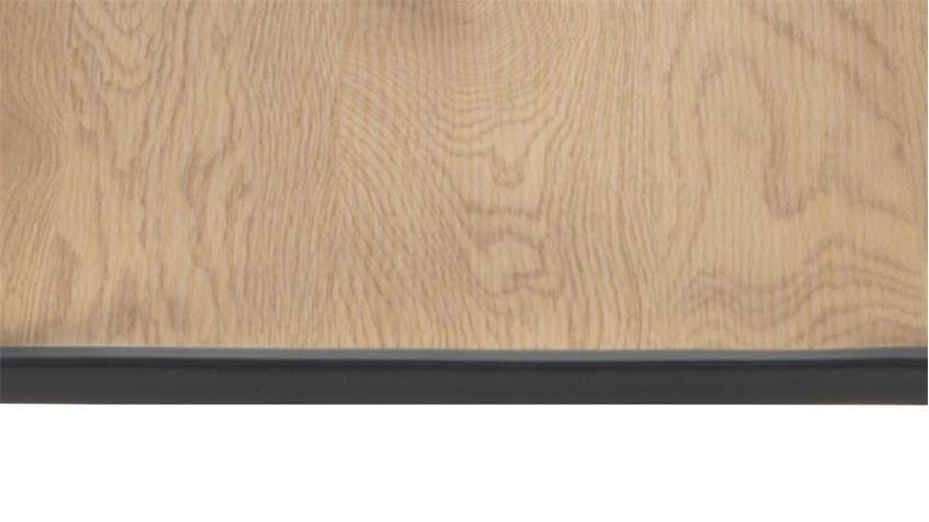 Schreibtisch SEAFORD schwarz matt Wildeiche Look Puristisch