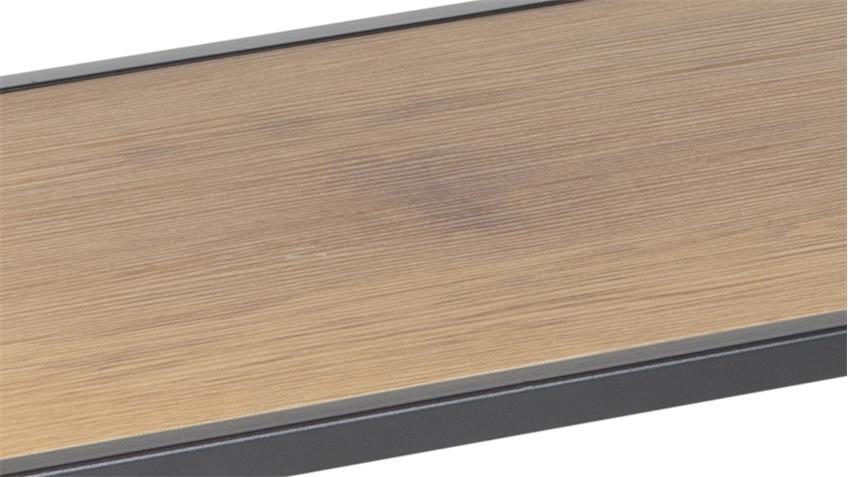 Schuhregal SEAFORD schwarz Wildeiche-Optik 1 Fach
