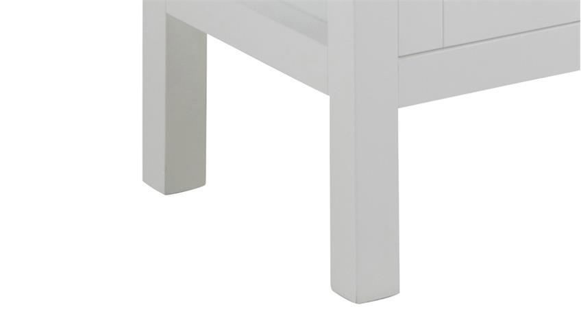 Vitrine ETON 2-türig weiß lackiert Hygge Landhausstil