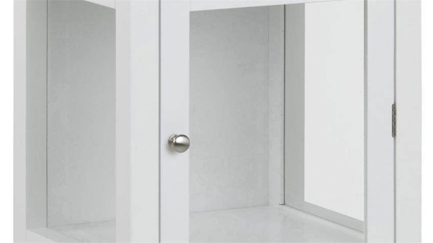 Vitrine ETON Glaseinsätze weiß lackiert Landhaus 1-türig