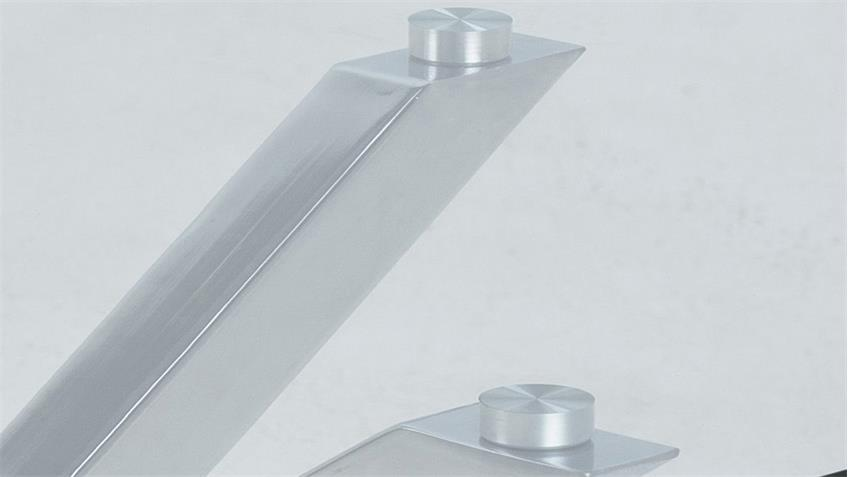 Couchtisch HEAVEN Glasplatte Metall verchromt Ø 82 cm