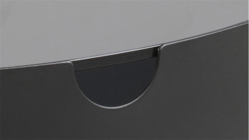 Beistelltisch TIPTON rauchfarbenes Glas Metallgestell schwarz