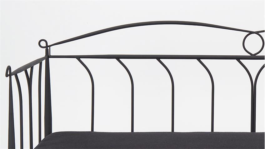 Tagesbett LINE Metall schwarz Jugendbett 90x200