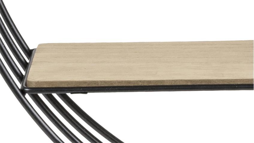 Wandregal DARKENBERG schwarz Paulownia Holz