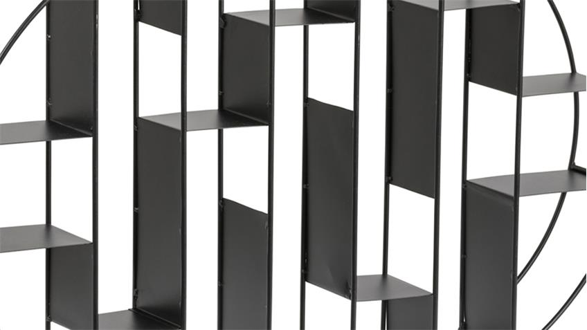 Wandregal GARNET Metall schwarz Industrial Style