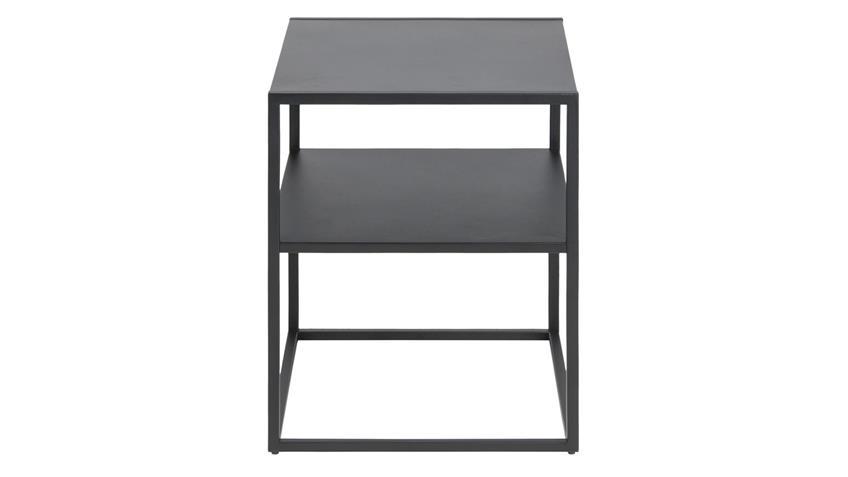 Nachttisch NEWTON Metall schwarz 2 Ablagen Puristisch
