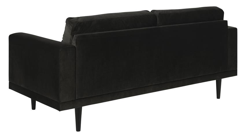 Sofa DAGMAR grau braun massiv Buche lackiert 3-Sitzer