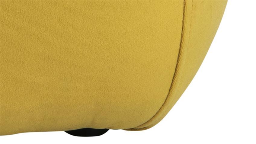 Sitzhocker Mie Pouf Sitzkissen mit Samt gelb 40x40 Sitzwürfel