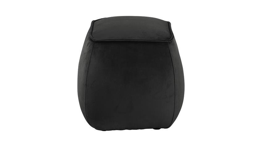 Sitzhocker Mie Pouf Sitzkissen mit Samt in grau-braun 40x40